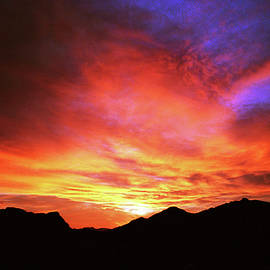 Winter Sunset, Tucson Mountains by Douglas Taylor