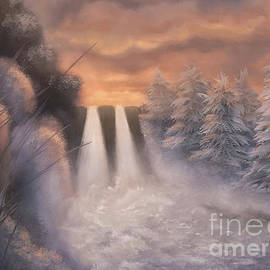 Winter Twilight At Caledonia Falls by Lois Bryan