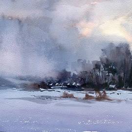 Winter village by Vasyl Moldavchuk