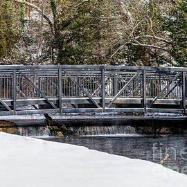 Winter Walkway Bridge by Jennifer White