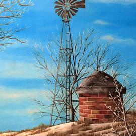 Winter Windmill by Ashley Koebrick Schmidt