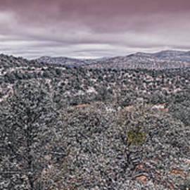 Winter Wonderland on the Way to McDonald Observatory - Fort Davis - Davis Mountains West Texas by Silvio Ligutti