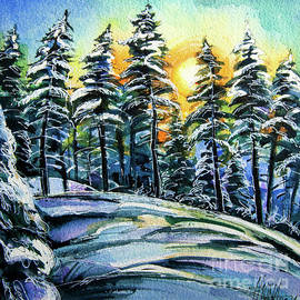 WINTER WONDERLAND watercolor painting Mona Edulesco by Mona Edulesco