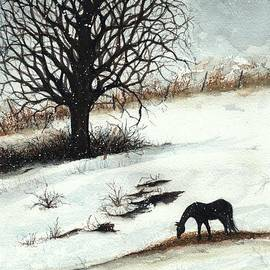Winter's Day Horse Pasture V by Janine Riley