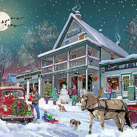 Wintertime at Chapmans Store in Fairlee Vermont by Nancy Griswold