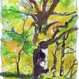 Wire Painting-Big Oak Tree by Kathy Braud