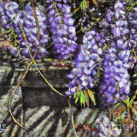Wisteria by the Wall by Eileen  Fong