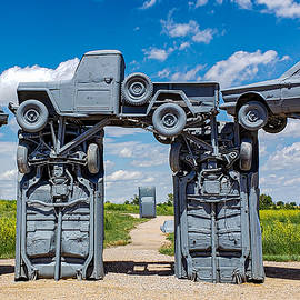 Within the Circle - Carhenge by Bonny Puckett