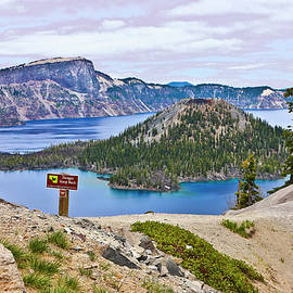 Wizard Island Crater Lake Oregon Two by Joyce Dickens