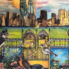 Woes New York City-Manhattan Skyline by Susan Brown    Slizys art signature name