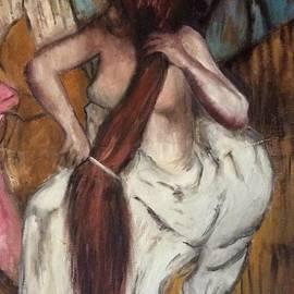 Woman Combing Her Hair Degas by Cheryl Pettigrew