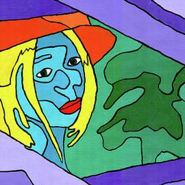 Woman Framed in Purple by Randall Steinke