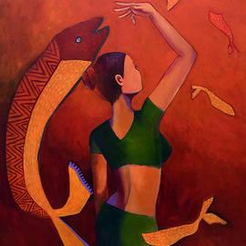 Woman In Green by Manjula Prabhakaran Dubey