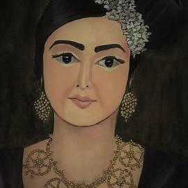 Woman in traditional attire-portrait by Tara Krishna