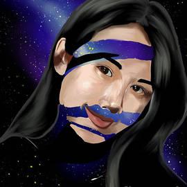 Woman Universe Art by Shelou Veloso