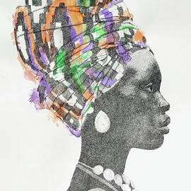 Woman Wearing a Headscarf by Matthew Dodd