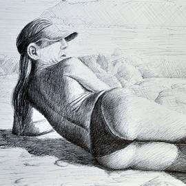 Woman with a Sun Visor by Rick Hansen