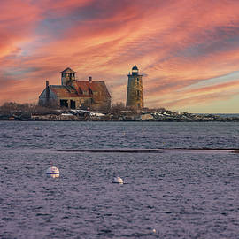 Wood Island and Whaleback Lighthouse by Jeff Folger