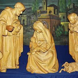 Wood Nativity Scene by Sally Weigand