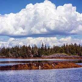 Wooded island off the coast of Nova Scotia by Ken Morris
