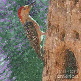 Woodpecker Profile Impressionistic by Barbie Corbett-Newmin