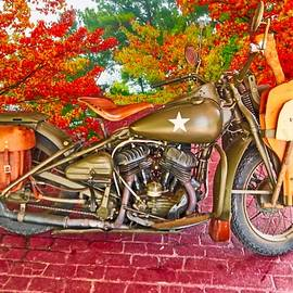 World War II Harley Davidson by Dennis Baswell