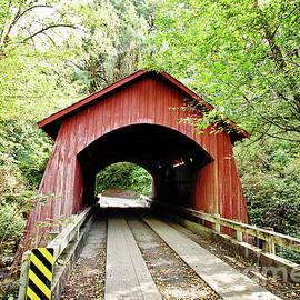 Yachats Covered Bridge by Scott Pellegrin