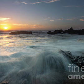 Yachats Sunset Surge by Mike Dawson