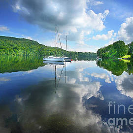 Yachts and a Garden - Coniston by Mark Haynes