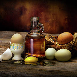 Yard Eggs and Oil by Kirk Voclain