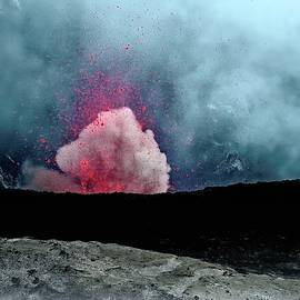 Yasur Eruption Abstract by Heidi Fickinger
