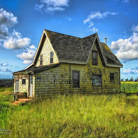 Yellow Abandoned House by George Moore