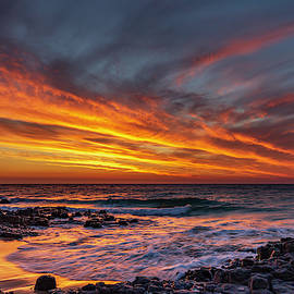 Yellow and Orange Clouds by Robert Caddy