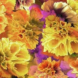 Yellow Bells Flowers by Grace Iradian