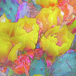Yellow Cactus Flowers by Bonnie Marie