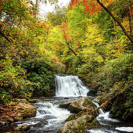 Yellow Creek Autumn Cascades by Debra and Dave Vanderlaan