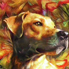 Yellow Lab Good Dog by Susan Maxwell Schmidt