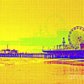 Yellow Pop Art Santa Monica Pier by Christine aka stine1