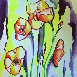 Yellow Poppies  by Michell Rosenthal