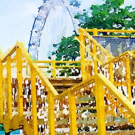 Yellow Railings by Mo Barton