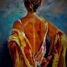 Yellow shawl by Khalid Saeed