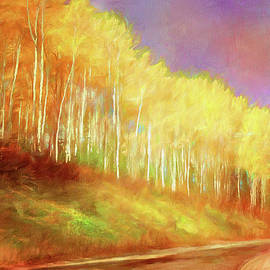Yellow Tree Tops by Terry Davis