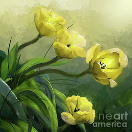 Yellow Tulips  by Lois Bryan