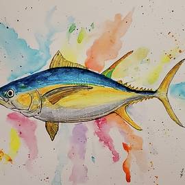 Yellowfin Tuna by Terry Feather