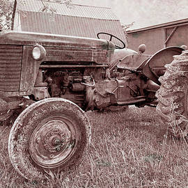 Yesterday's Tractor in Sepia by Bill Swartwout