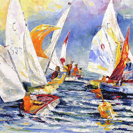 Youngster Sailing Regatta by Barbara Pommerenke