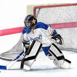 Youth Hockey drawing by Murphy Art Elliott