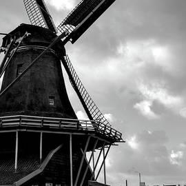 Zaanse Schans Windmill Silhouette by Norma Brandsberg