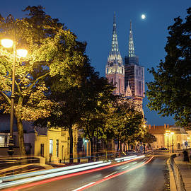 Zagreb under the moon by Alexey Stiop
