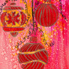 Zentangle Christmas Ornaments in Alcohol Ink